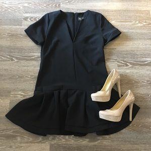 ASOS V Neck Short Sleeve Dress with Frill